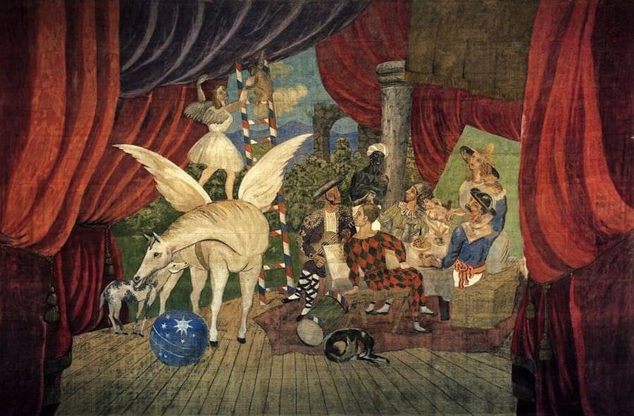 Pikaso - Skica za pozorišni komad ,,Parada'' 1931.